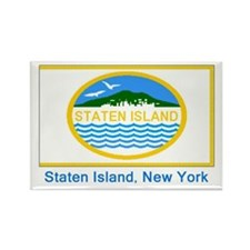Staten Island NY Flag Rectangle Magnet