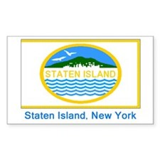 Staten Island NY Flag Rectangle Decal