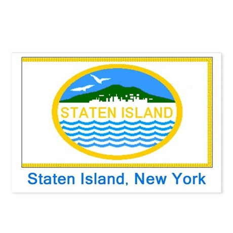 Staten Island NY Flag Postcards (Package of 8)