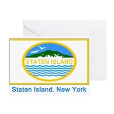 Staten Island NY Flag Greeting Card