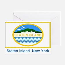 Staten Island NY Flag Greeting Card