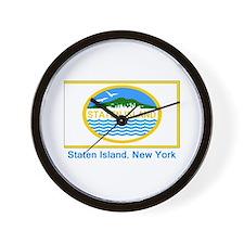 Staten Island NY Flag Wall Clock