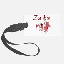 blood splatter zombie killer Luggage Tag