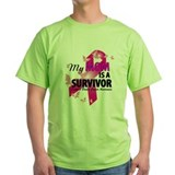 Breast cancer team pink Green T-Shirt