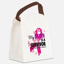 My Sister Is A Survivor Canvas Lunch Bag