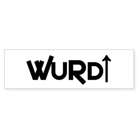 """WURD"" Bumper Sticker"