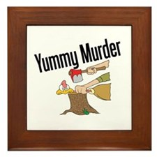 Turkey is Yummy Murder Framed Tile