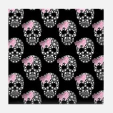 DIAMOND DIVA SKULLS Tile Coaster