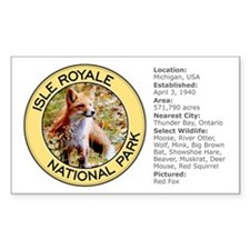 Isle Royale NP (Red Fox) Rectangle Decal