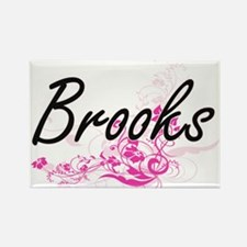 Brooks surname artistic design with Flower Magnets