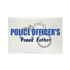 Police Proud Father Rectangle Magnet