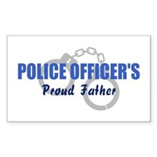 Police Proud Father Rectangle Decal