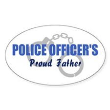 Police Proud Father Oval Decal