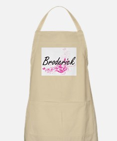 Broderick surname artistic design with Flowe Apron