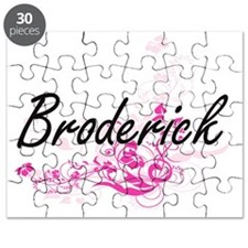 Broderick surname artistic design with Flow Puzzle