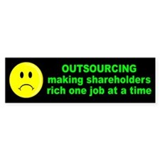 OUTSOURCING Bumper Bumper Sticker