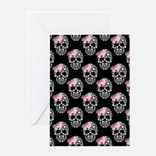 DIAMOND DIVA SKULLS Greeting Card