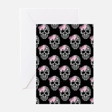 DIAMOND DIVA SKULLS Greeting Cards (Pk of 10)