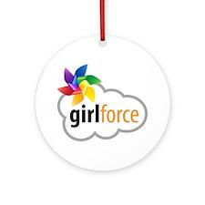 Girlforce Round Ornament