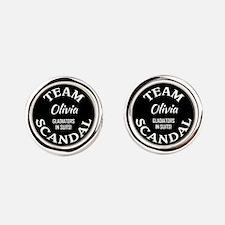 TEAM OLIVIA Round Cufflinks