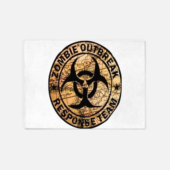 zombie outbreak response team 5'x7'Area Rug