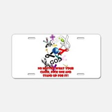 Your Cause Aluminum License Plate