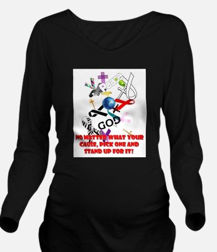 Your Cause Long Sleeve Maternity T-Shirt