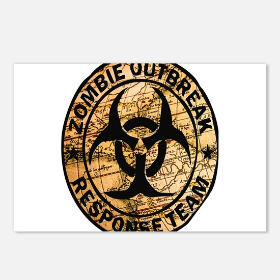 zombie outbreak response Postcards (Package of 8)