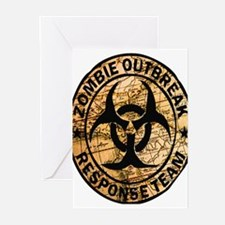 zombie outbreak response team Greeting Cards