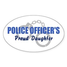 Police Proud Daughter Oval Decal
