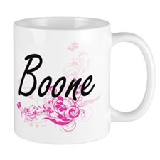 Boone surname artistic design with Flowers Mugs