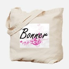 Bonner surname artistic design with Flowe Tote Bag