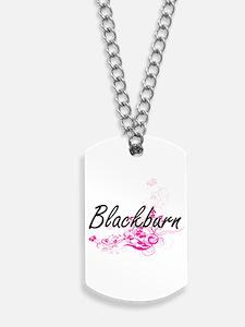 Blackburn surname artistic design with Fl Dog Tags