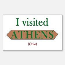 I Visited Athens (ohio) Decal