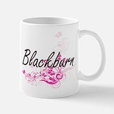 Blackburn surname artistic design with Mugs