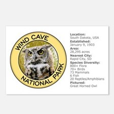 Wind Cave NP (Great Horned Owl) Postcards (Package