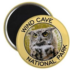 Wind Cave NP (Great Horned Owl) Magnet