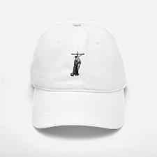 St. Francis Embraces Jesus on Cross #3 Baseball Baseball Cap