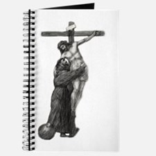 St. Francis Embraces Jesus on Cross #3 Journal
