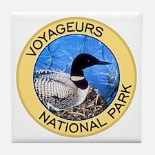Voyageurs NP (Loon) Tile Coaster