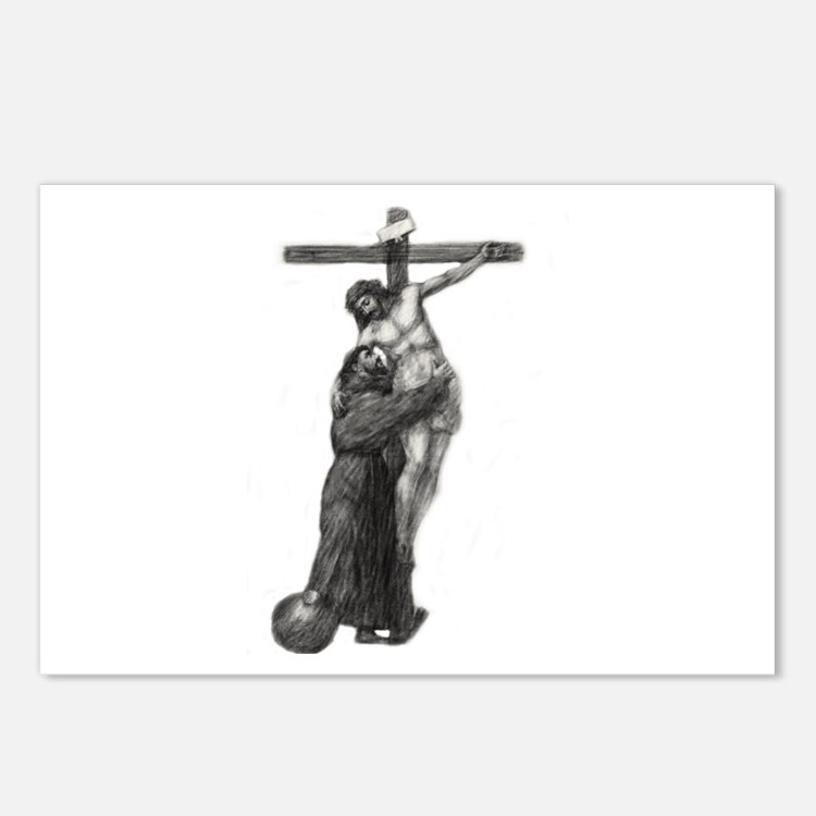 St. Francis Embraces Jesu Postcards (Package of 8)