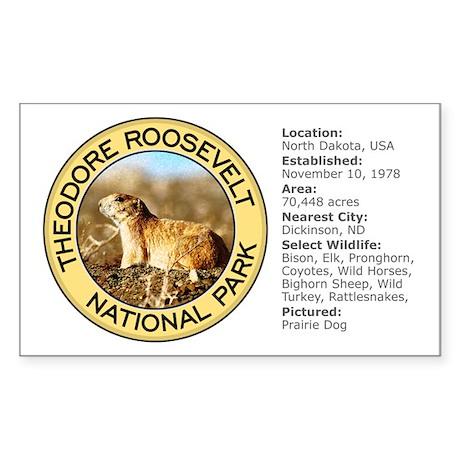 Theodore Roosevelt NP (Prairie Dog) Sticker (Recta