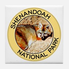 Shenandoah NP (Gray Fox) Tile Coaster