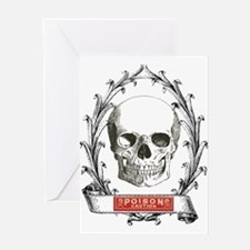poison steampunk skeleton skull Greeting Cards