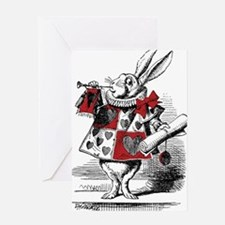 Funny White rabbit Greeting Card