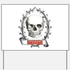 poison steampunk skeleton skull Yard Sign