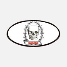 poison steampunk skeleton skull Patch