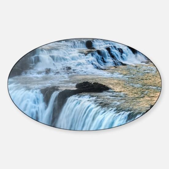 GULLFOSS WATERFALLS 2 Sticker (Oval)