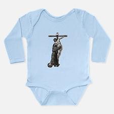 St. Francis Embraces Jesus on Cross #3 Body Suit