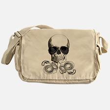 rock n roll skeleton skull Messenger Bag